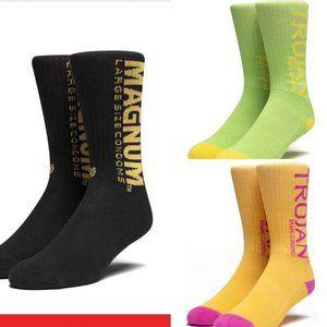 HUF Socks TROJAN Or MAGNUM Black Yellow Lime